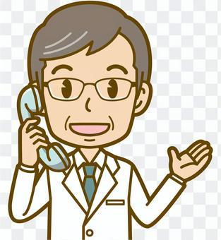 男性(医者):B_電話02BS