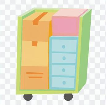 引っ越し-荷物を積んだボックス