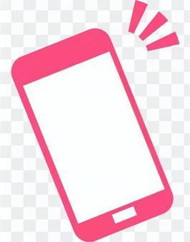 智能手機圖標(粉紅色)