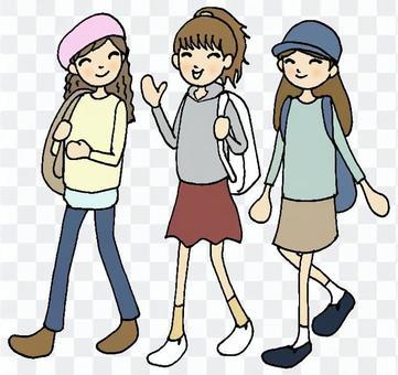 旅遊③女高中生黑線