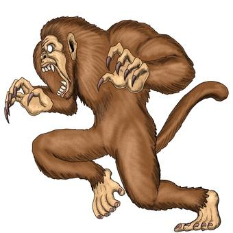 猴子旁邊,大猴子的怪物