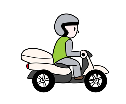 Person who delivers by motorcycle