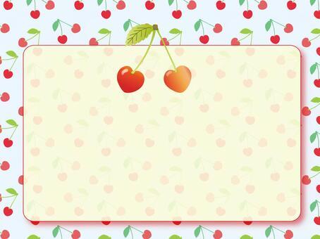 櫻桃框架〜淺藍色的背景〜