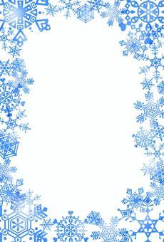 雪水晶框架·藍色·表面
