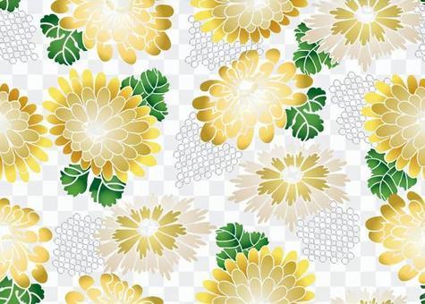 ai抽象的菊花圖案與色板