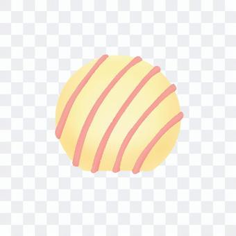 球体のホワイトチョコ(輪郭線なし)