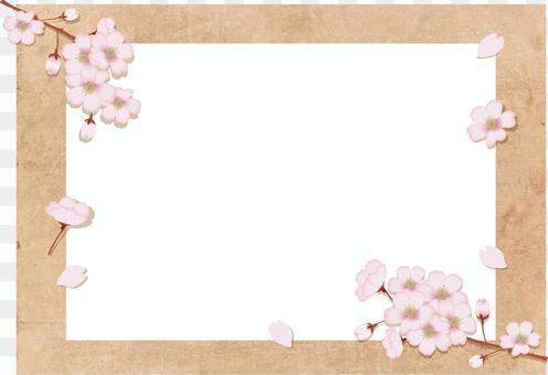 Spring cherry blossom frame 6