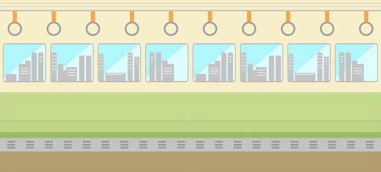 火車上的城市車窗
