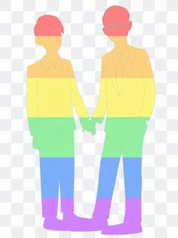 LGBT 顏色,幾個男人