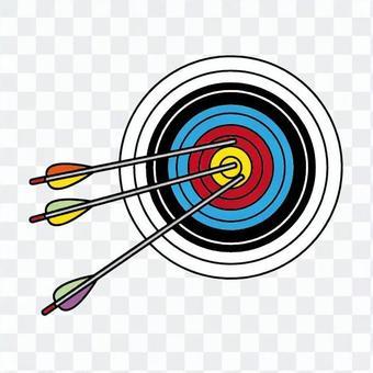 射箭目標和箭頭