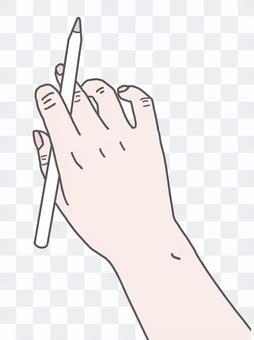 Hand fair-skinned tablet pen