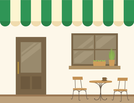 Cafe appearance _ green
