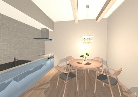 Rental kitchen dining