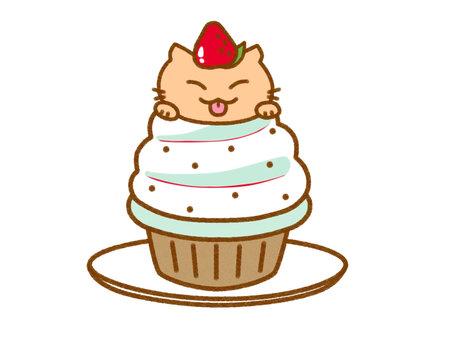 紙杯蛋糕 2 茶虎斑貓