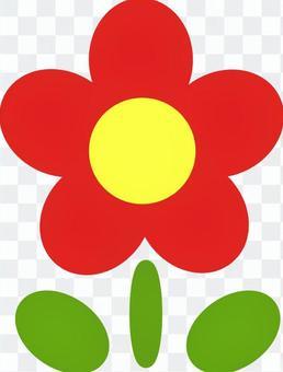 Flower illustration (red)
