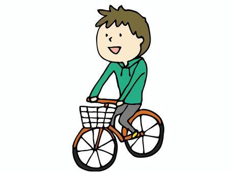 一个骑自行车的男孩