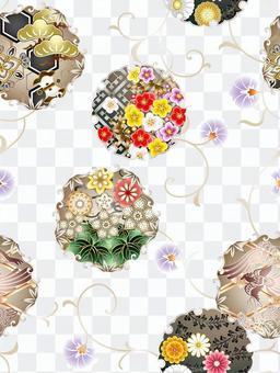 ai雪環圖案與色板