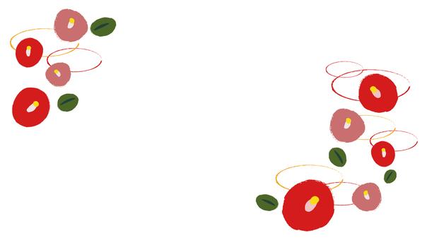 日式山茶花兵器裝飾框寬16:9