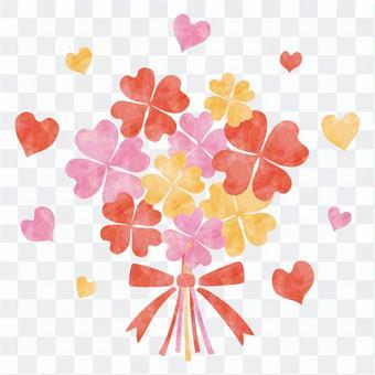 粉紅色的四片葉子/花束
