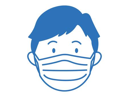 戴面具的男人的臉_前