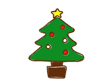 手繪簡單聖誕樹