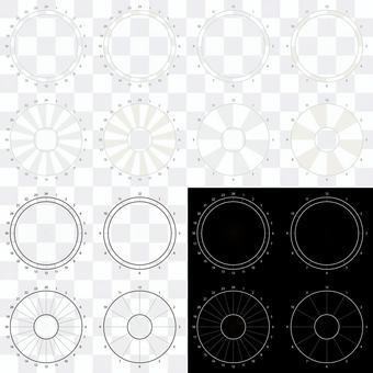 円形タイムスケジュール
