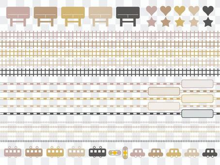 各种交通(米色)