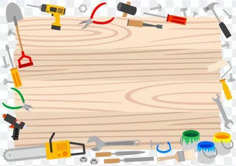 看板と工具 フレーム