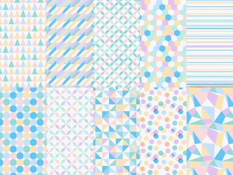 Geometric seamless pattern pastel