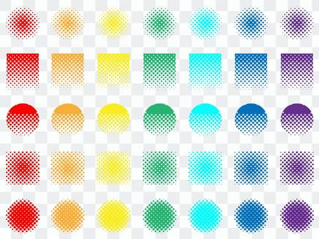 彩虹點素材集