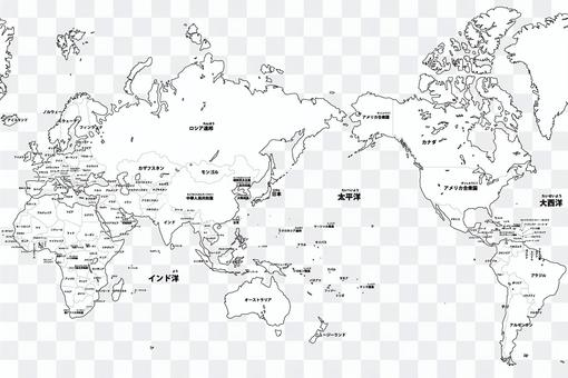 Blank map-World-Entering country name
