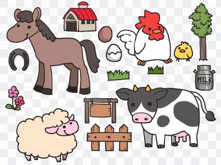 農場動物設置