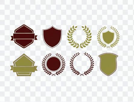 礼物和徽章框架