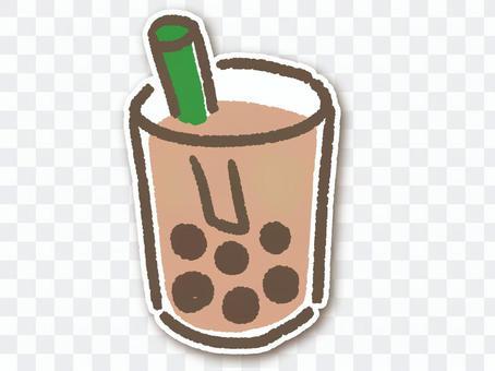 單獨的木薯奶茶