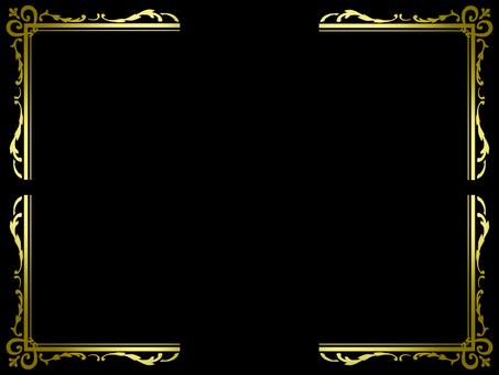 古色古香的角飾(金色)