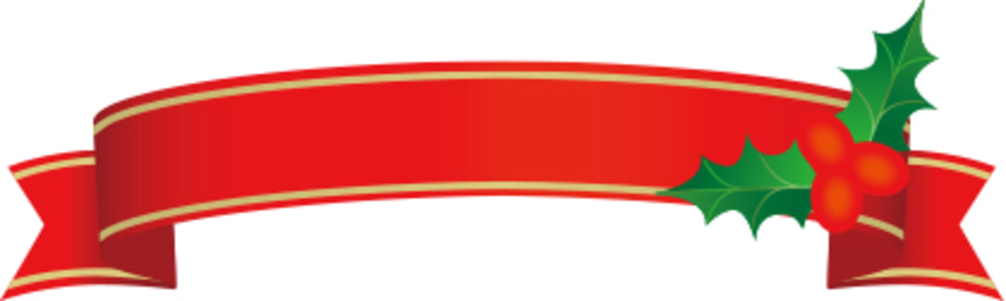 Christmas ribbon label red