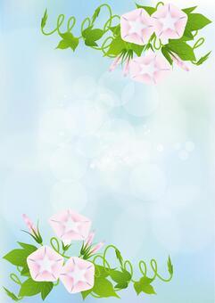 Sky blue & Asagao 12