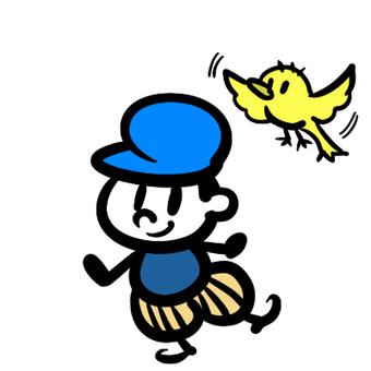 男孩和小鳥