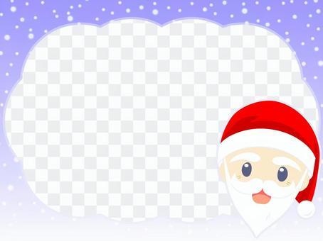 冬天的天空聖誕節框架-3