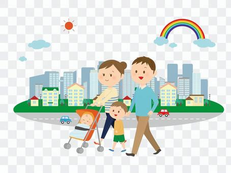 Family and city
