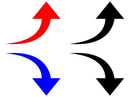 向上/向上和向下/向下:箭頭