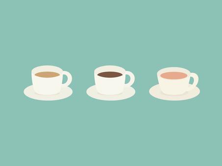 심플하고 귀여운 커피와 차