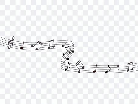 Illustration of staff and musical notes