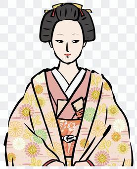 在腰上輕輕地計劃某事的奧庫女人