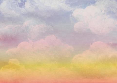 水彩風格黎明天空背景