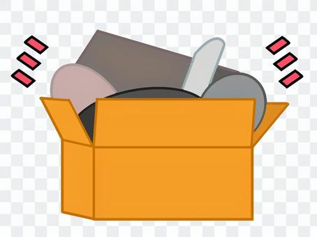 [移動]裝滿行李的紙板