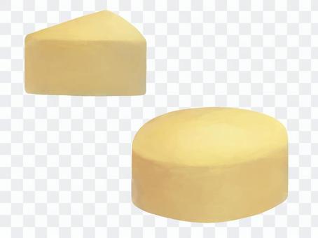三角奶酪和圓奶酪