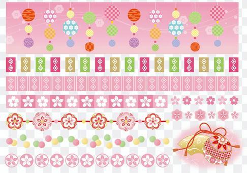 Hina decoration / Spring decoration