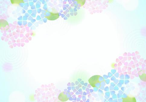 柔和的顏色繡球花背景4