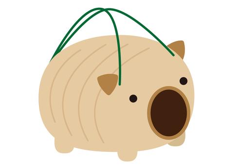 3幅插圖(豬和蚊香)